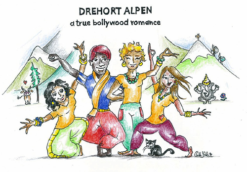 Drehort Alpen - a true bollywood romance
